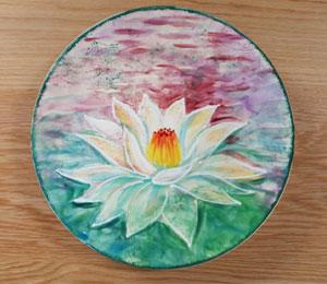Cape Cod Lotus Flower Plate