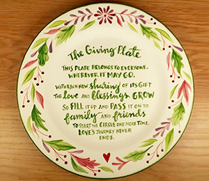 Cape Cod The Giving Plate