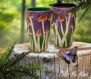 Cape Cod Mushroom Mugs
