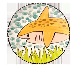 Cape Cod Happy Shark Plate