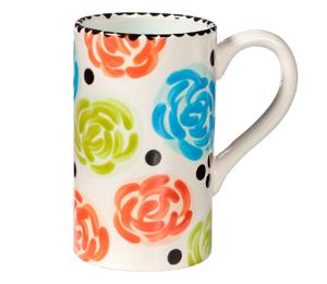 Cape Cod Simple Floral Mug