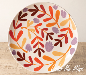 Cape Cod Fall Floral Charger