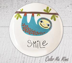 Cape Cod Sloth Smile Plate